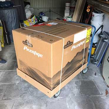 Napoleon Prestige p500 in seiner Verpackung