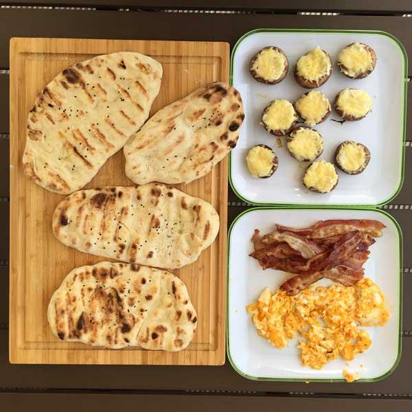 Fertiges Frühstück