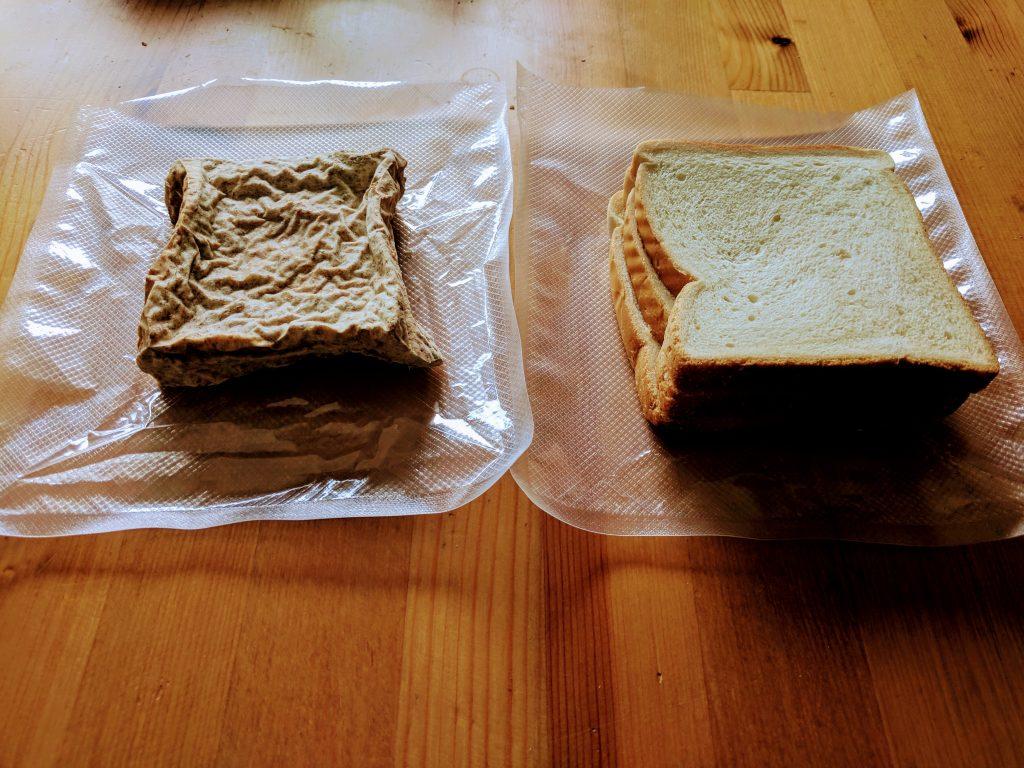 Toastbrot ausgepackt